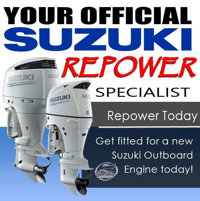 Suzuki repower right banner WHITE