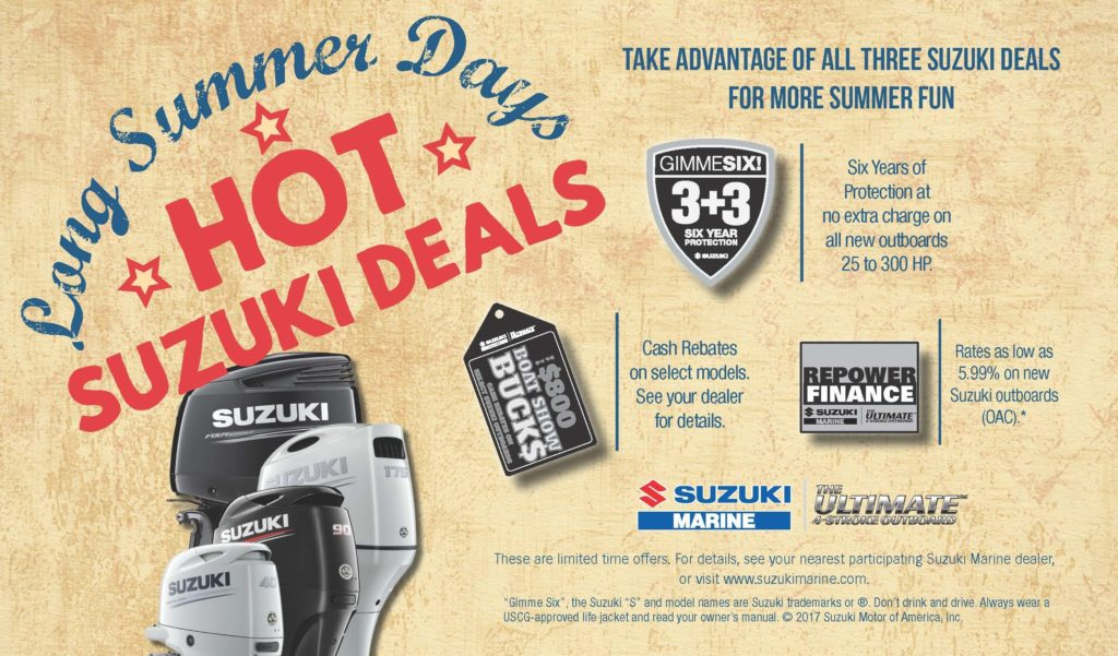 2017 suzuki summer sales event talon marine services