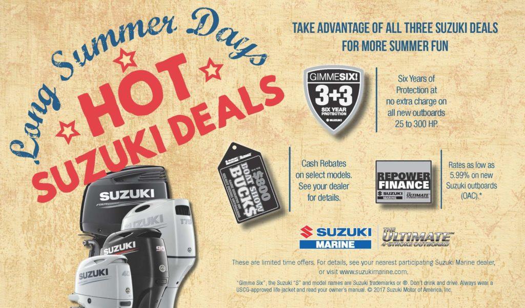 suzuki summer sales event - new boat motor